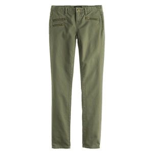 J. Crew Toothpick Jean with Zippers